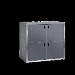 Paketkasten / Depotschrank SILENT 242 mit PAKETIN-Modul (vier 260-l-Fächer)