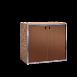 Paketkasten / Depotschrank SILENT 242 mit PAKETIN-Modul (zwei 540-l-Fächer)