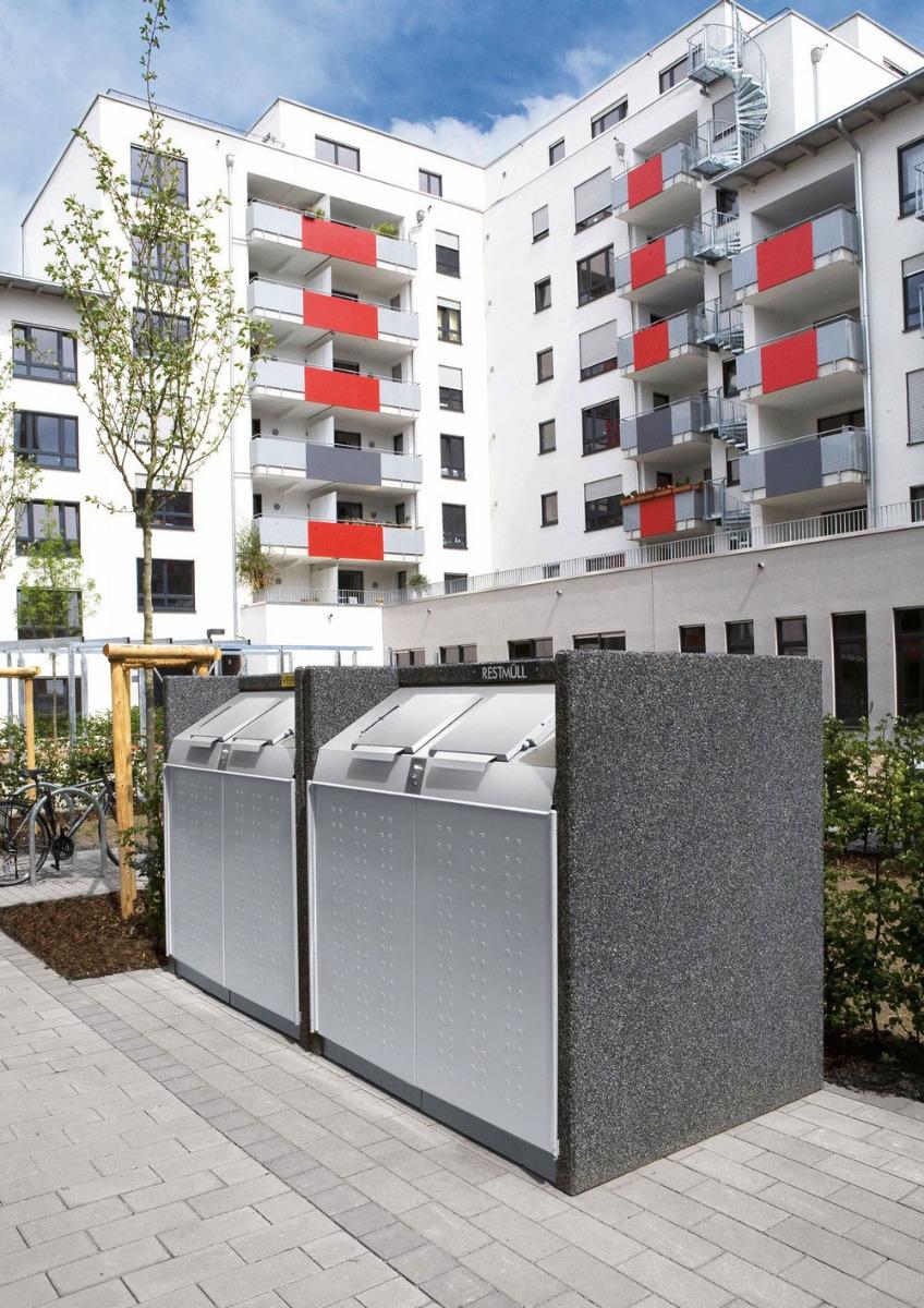 Mülltonnenboxen von Paul Wolff mit modernem Design