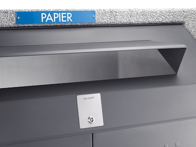 Einwurföffnungen für Papier und Karton